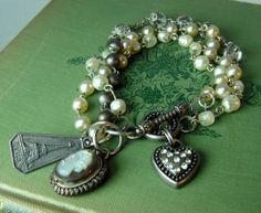 Vintage+Inspired+Paris+French+Charm+Bracelet+by+BeadazzledBySharon,+$48.00