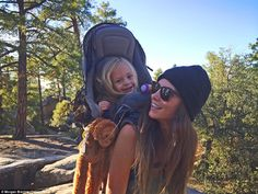 Morgan Brechler, 25, has trekked through America's famous national parks with her daughter Hadlie since she was just a few months old