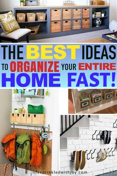 These are the best ideas for staying on top of clutter! Great ideas to keep EVERY ares in your home organized! #homeorganization #organizing #homeideas #homedecor #hometips #decluttering #housekeeping #cleaning #home #easyhomeideas #homeimprovement #clutter #stayingclutterfree #stressfree #busymom #organization #quicktips #cleaningtips #shoeorganization #livingroom #toystorage #storageideas #entryway