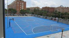 Patio del Colegio Mariano Benlliure de Aldaia. Nuevo pavimento: 1.340 metros cuadrados de superficie Sportplus