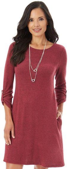 Dress with pockets  #dress #longsleevedress #christmasoutfit #pockets #kohls #workoutfit