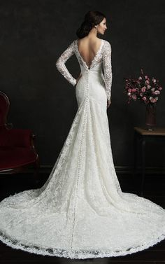 US$139.00 - Become a legendary bride. Long sleeve open back lace wedding dress. www.doriswedding..... Gorgeous off the shoulder wedding dresses, long sleeve wedding dresses, ball gown wedding dresses are waiting to be discovered at www.doriswedding.com with affordable prices. #DorisWedding.com