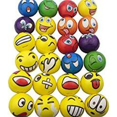 Mydio Set of 24 Emoji Stress Balls Stress Reliver Party Favor Soft PU Emoji Ball Assorted Colors Random Pattern Party Toys Kids Play Ball Tent Ball Toddler Ball 24 Pack Diy Party Decorations, Balloon Decorations, Party Favor Tags, Party Favors, Best Stress Ball, Minute To Win It Games, Happy Birthday Banners, 4th Birthday, Birthday Parties