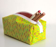 This pencil case is a great beginner's sewing project! If you make this zippered pencil case you'll learn to put in an easy zipper and how to turn a n...