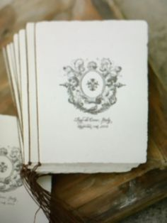 logo on wedding program