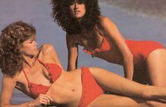 lisa and janice, Janice Dickinson, Lisa Taylor, Supermodels, Bikinis, Swimwear, Vintage Fashion, Vogue, Swimming, Glamour