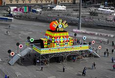 morag myerscough & luke morgan add immersive camera obscura to mexico city square