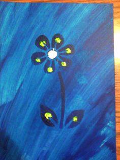 Blue flower art piece