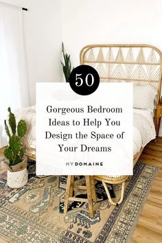 Looking for lots of ideas to help you design the bedroom of your dreams? We've rounded up 50 beautiful bedrooms featuring an array of styles, from minimalist to boho and beyond.