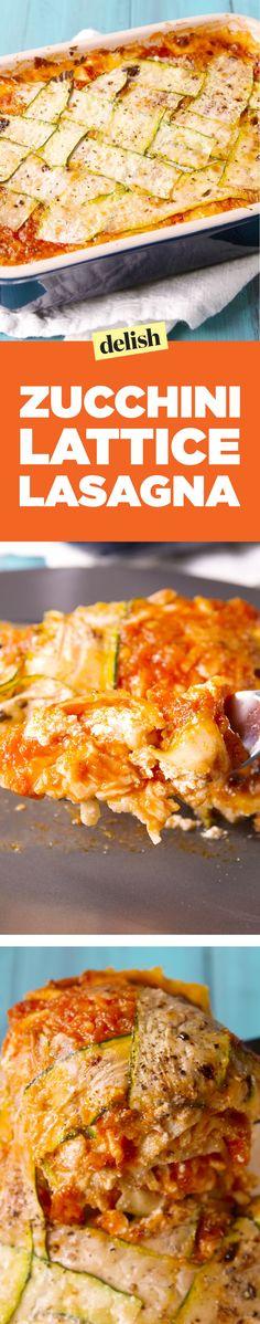 Zucchini Lattice LasagnaDelish