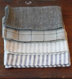 Love the rustic look and feel. linen kitchen towels