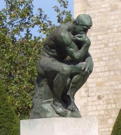Rodin's The Thinker, original bronze cast at the Musée Rodin in Paris (Image credit: a.muse.d [Flickr])  Originally named The Poet, the piece was part of a commission by the Musée des Arts Décoratifs, Paris to create a monumental portal to act as the door of the museum. The sculpture is nude, as Rodin wanted a heroic figure in the tradition of Michelangelo, to represent intellect as well as poetry.