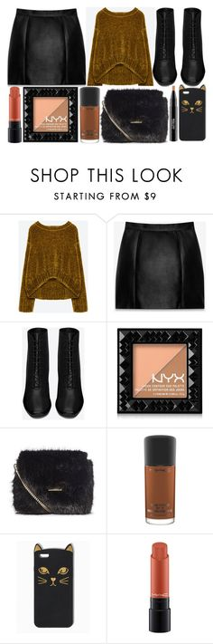 """""""street style"""" by sisaez ❤ liked on Polyvore featuring Yves Saint Laurent, NYX and MAC Cosmetics"""
