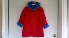 Child's Red Car Coat 3 years C57/15 by zoya49 on Etsy
