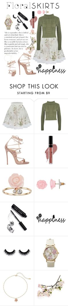 """Floral Skirts"" by kaseyhughes ❤ liked on Polyvore featuring WearAll, Dsquared2, LC Lauren Conrad, Bobbi Brown Cosmetics, BillyTheTree, Crate and Barrel and Floralskirts"