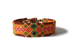 colorful unisex adult wristlet macrame friendship bracelet by Kreativprodukte, €9.50