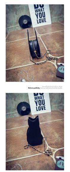 Aliexpress.com : Buy BLACK CAT NOVELTY CROSSBODY CHAIN BAG   Women's Girl 2016 Street Fashion Animal Kitten Cute Cool Unique Fun Cross Body Purse Bag from Reliable bag salt suppliers on FRS SHOP