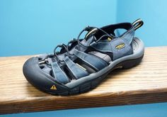 Men's Keen Newport H2 Blue Sport Sandals Water Hiking Shoes Waterproof 8 Nice! #KEEN #SportSandals