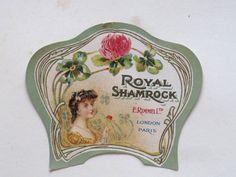Antique E. Rimmel Royal Shamrock Perfume by VintageFrenchFinds