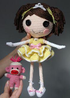 Амигуруми: Принцесса Лалалупси. Бесплатная схема для вязания игрушки. FREE amigurumi pattern. #амигуруми #amigurumi #схема #pattern #вязание #crochet