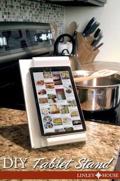 DIY Tablet Stand from Old Cutting-Board