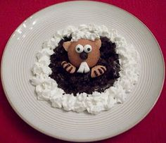 groundhog day desserts.  For my groundhog day babies.  Because they need something cute.