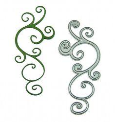 Signature Dies - Swirls and Curls SD040