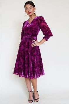 Our Newbury Burgundy Velvet Midi Dress is ready for every event. Details include blouson sleeves with elastic smocked cuffs, v-neckline with button front, and hidden back zipper. Velvet Midi Dress, Fall Collections, Neckline, Formal, Model, Sleeves, How To Wear, Clothes, Dresses
