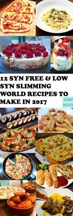 12 Syn Free & Low Syn Recipes To Make In 2017 - Basement Bakehouse Slimming World Dinners, Slimming World Recipes Syn Free, Slimming World Diet, Slimming Eats, Slimming World Lunch Ideas, Skinny Recipes, Healthy Recipes, Healthy Options, Diet Recipes