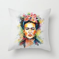 Frida Kahlo Throw Pillow by Tracie Andrews - $20.00
