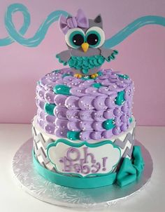 The Fascinating Owl Cakes For Baby Shower 57 On Unique Boy Baby Shower Themes With Owl Cakes For Baby Sh custom baby shower invitations and free baby shower food themes decoration with simple unique design cards ideas Baby Shower Owl Cake, Girl Shower Cake, Baby Shower Purple, Boy Baby Shower Themes, Baby Boy Shower, Baby Shower Decorations, Cake Baby, Baby Showers, Owl Cakes