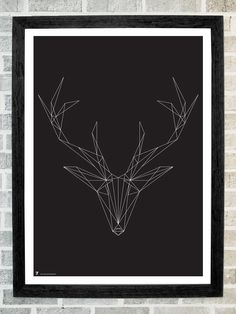Deer head triangles print 11 X 16. $19.99, via Etsy (I thought this was string art at first, which is a cool DIY idea)