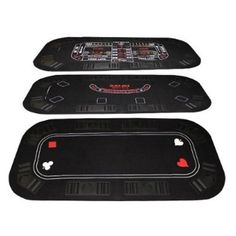 """3-In-1 Poker & Casino Folding Table Top by Brybelly. 3-In-1 Poker & Casino Folding Table Top. 63 1/4"""" x 31 1/2""""."""