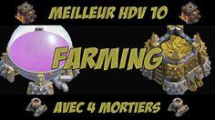 awesome Clash of Clans - MEILLEUR VILLAGE FARM HDV 10 AVEC 4 MORTIERS !  Nouvelle vidéo sur Clash of Clans, avec la présentation d'une base HDV 10 à 4 Mortiers ! On a tous besoin de réorganiser nos bases avec cette ...http://clashofclankings.com/clash-of-clans-meilleur-village-farm-hdv-10-avec-4-mortiers/