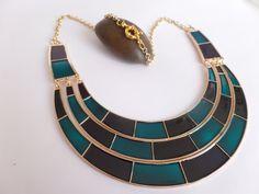 Egyptian Blue Necklace  Nefertari by IdunnBijoux on Etsy, €30.00