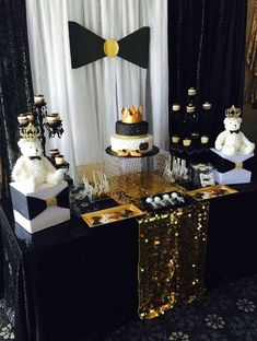 Take a look at this wonderful Bow Ties Baby Shower! It's so glamorous!! See more party ideas and share yours at CatchMyParty.com #babyshower #littleman
