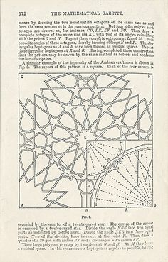 GEOMETRIC PATTERNS & BORDERS: METHODS OF DESIGN