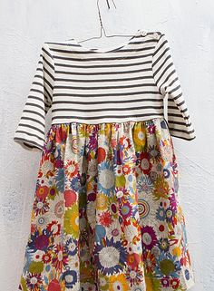 Soo cute- baker island dress, by sailor rose Sewing For Kids, Baby Sewing, Sewing Clothes, Diy Clothes, Sailor Dress, Mode Boho, Dresses Kids Girl, Dress Girl, Creation Couture