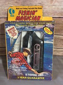 K-Tel Fishin' Magician Fishing Multi Tool 1974 11 Tools In One New Vintage  | eBay
