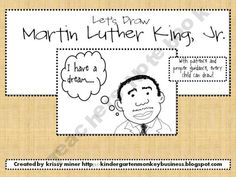 Martin Luther King, Jr Directed Drawing FREEBIE from Krissy Miner!