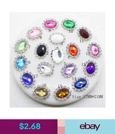 2.68 - 17X21Mm 10Pcs Oval Flatback Acrylic Crystal Rhinestone Button Diy  Embellishment  ebay  Home. Acrylic Wedding InvitationsWedding Invitation  CardsDiy ... 066ef76b39b7