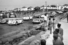 Stirling Moss / Porsche vencem em Monsanto, Lisboa, 1955.