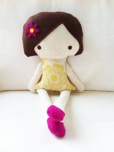 doll sewing pattern - this would be cute to make along with a matching dress for a little girl!