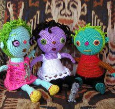 colorfull #amigurumi dolls
