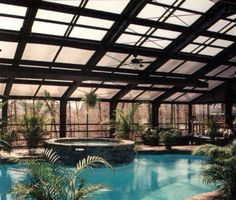 Pool enclosures pools and pool spa on pinterest for Pool inside greenhouse