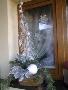 jednoduchá vánoční dekorace