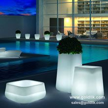 Dreamlike led garden flower pot, and more type of LED Furniture plz visit http://goldlik.com/LedFurniture-LedFlowerPot-3.html