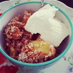 Mom's Peach Crisp Recipe