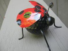 shower favor, ladybug, ladybug craft, recycling craft, golf ball craft, nature craft, bug craft, water bottle craft, how to recycle water bottles