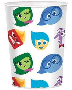 Inside Out 16oz Favor Cup - Disney Inside Out Party Supplies & Decorations Inside Out Cakes, Inside Out Party Ideas, Inside Out Emotions, Kids Party Themes, 4th Birthday Parties, 8th Birthday, Birthday Ideas, Movie Inside Out, Disney Inside Out
